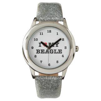 I Heart My Beagle Numbered Wrist Watch