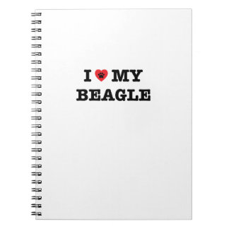 I Heart My Beagle Spiral Notebook