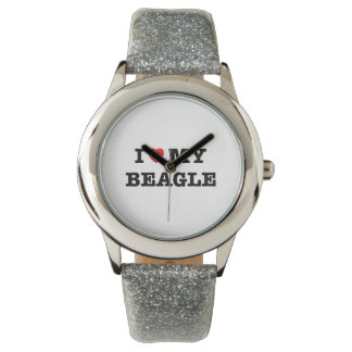 I Heart My Beagle Wrist Watch