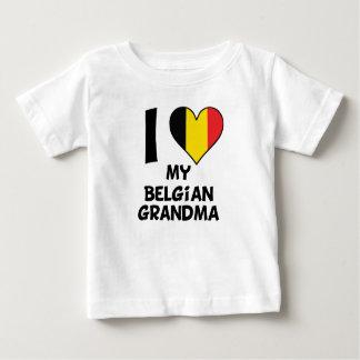 I Heart My Belgian Grandma Baby T-Shirt