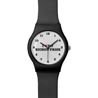 I Heart My Bichon Frise Numbered Wrist Watch