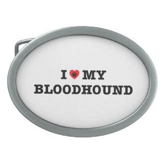 I Heart My Bloodhound Belt Buckle