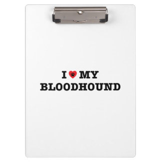 I Heart My Bloodhound Clipboard