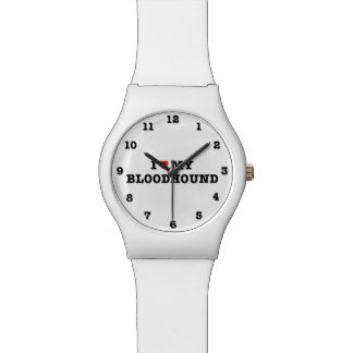 I Heart My Bloodhound Numbered May28th Wrist Watch