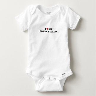 I Heart My Border Collie Baby Bodysuit