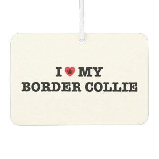 I Heart My Border Collie Car Air Freshener