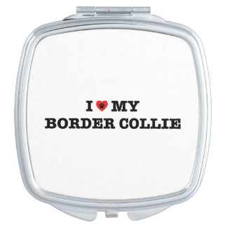 I Heart My Border Collie Compact Mirror