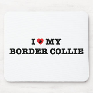 I Heart My Border Collie Mouse Pad