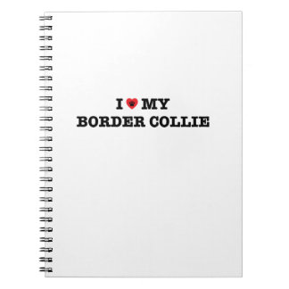 I Heart My Border Collie Notebook