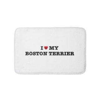 I Heart My Boston Terrier Bath Mat