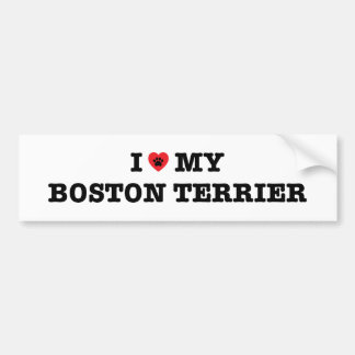 I Heart My Boston Terrier Bumper Sticker