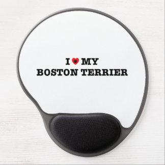I Heart My Boston Terrier Gel Mousepad