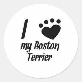 I Heart My Boston Terrier Stickers