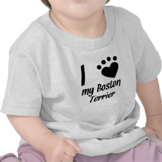 I Heart My Boston Terrier T Shirt