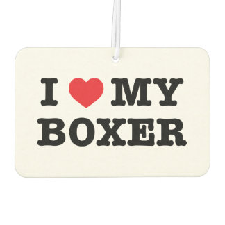 I Heart My Boxer Car Air Freshener