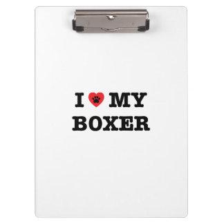 I Heart My Boxer Clipboard