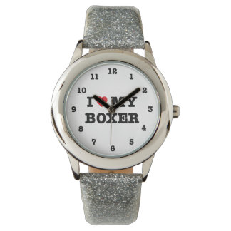 I Heart My Boxer Numbered Wristwatch
