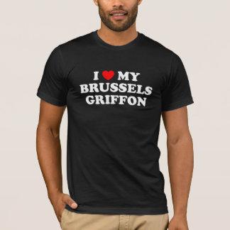 I Heart My Brussels Griffon Dark T-Shirt