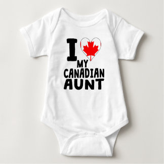 I Heart My Canadian Aunt Baby Bodysuit