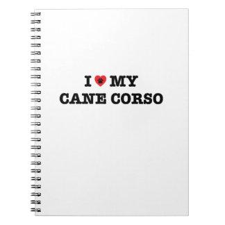 I Heart My Cane Corso Spiral Notebook
