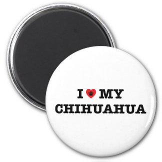 I Heart My Chihuahua Fridge Magnet
