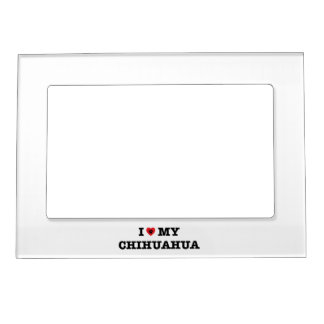 I Heart My Chihuahua Magnetic Photo Frame