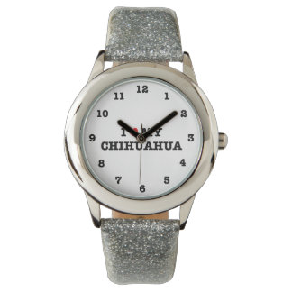I Heart My Chihuahua Numbered Wristwatch