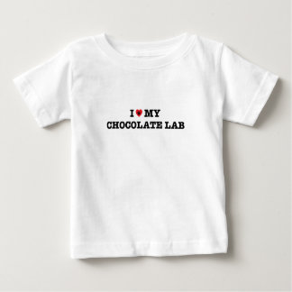 I Heart My Chocolate Lab Baby T-Shirt