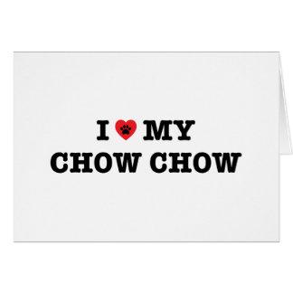 I Heart My Chow Chow Card