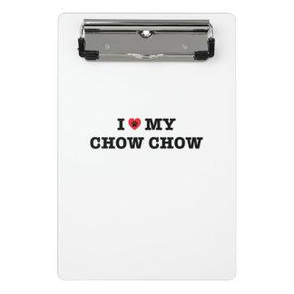 I Heart My Chow Chow Mini Clipboard