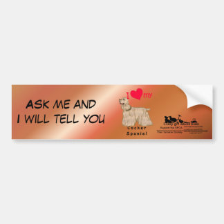 I Heart My Cocker Spaniel Bumper Sticker