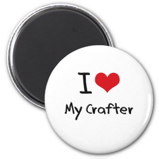 I heart My Crafter Refrigerator Magnets