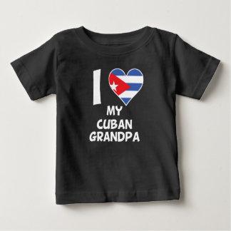 I Heart My Cuban Grandpa Baby T-Shirt