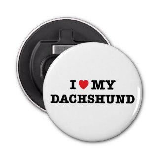 I Heart My Dachshund Bottle Opener Magnet