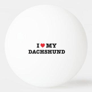 I Heart My Dachshund Ping Pong Ball