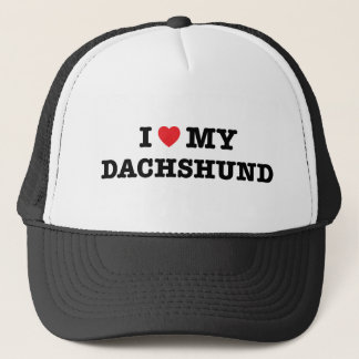 I Heart My Dachshund Trucker Hat