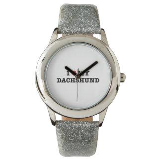 I Heart My Dachshund Wristwatch