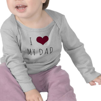 I Heart My Dad Infant Long Sleeve T Shirts