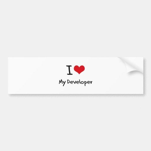 I heart My Developer Bumper Sticker
