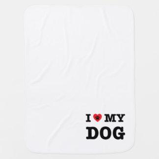 I Heart My Dog Baby Blanket