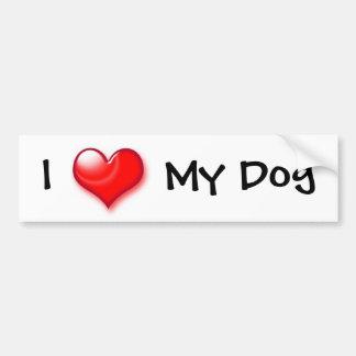 I Heart My Dog Bumper Sticker