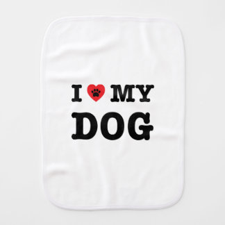 I Heart My Dog Burp Cloth