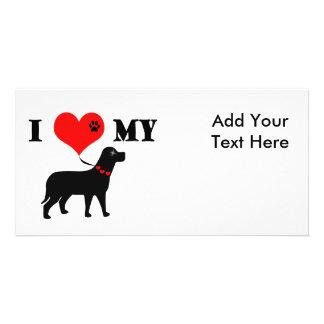 I Heart My Dog Photo Card Template