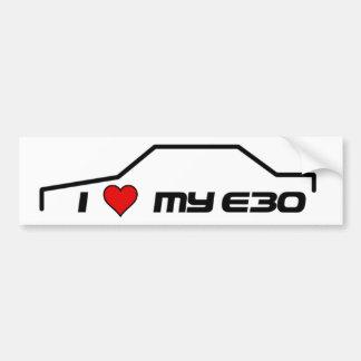 I heart my e30 bumper sticker