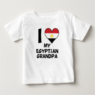 I Heart My Egyptian Grandpa Baby T-Shirt