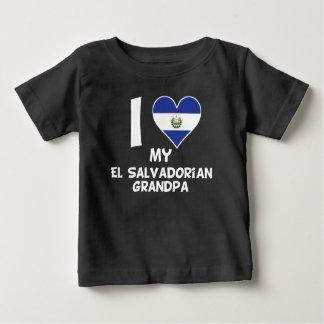 I Heart My El Salvadorian Grandpa Baby T-Shirt
