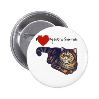 I Heart My Exotic Shorthair 6 Cm Round Badge