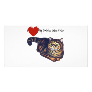 I Heart My Exotic Shorthair Personalised Photo Card