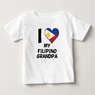 I Heart My Filipino Grandpa Baby T-Shirt