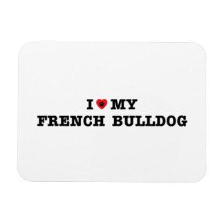 I Heart My French Bulldog Magnet